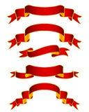 Ленты красного цвета Golder Стоковые Фотографии RF