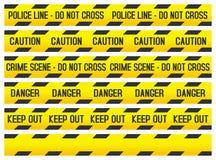 ленты места полиций злодеяния Стоковая Фотография RF