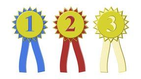 Ленты награды выставки места выигрыша Стоковая Фотография RF