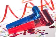 ленты партии confetti воздуходувок стоковое изображение rf