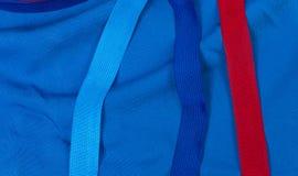 Ленты рамки на ткани стоковое изображение