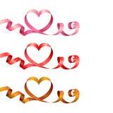 Ленты с сердцем Стоковая Фотография RF
