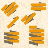 Ленты Grunge на текстурированной предпосылке Стоковое фото RF