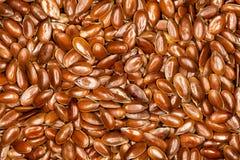 Лен, полный фон льняных семян Стоковая Фотография RF
