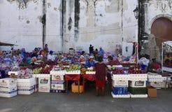Леон, Никарагуа 23-ье декабря 2017: Рынок собора Леона Стоковое Фото