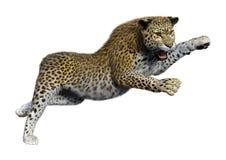 леопард большой кошки перевода 3D на белизне иллюстрация штока