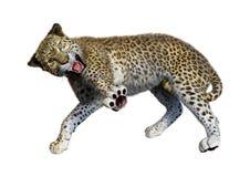 леопард большой кошки перевода 3D на белизне бесплатная иллюстрация
