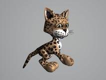 леопард кота иллюстрация вектора