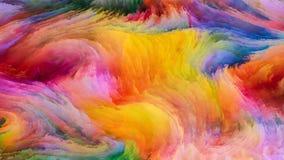 Лепестки красочной краски Стоковое фото RF