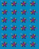 Лепестки народного искусства голубые Стоковое фото RF