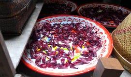 Лепестки для кухни, Таиланд цветка засыхания Стоковая Фотография