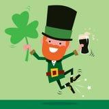 Лепрекон празднуя день St. Patrick иллюстрация вектора