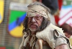 лепрозный портрет человека Стоковая Фотография