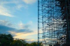 Леса здания стоковые фото