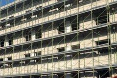леса конструкции здания вниз Стоковая Фотография RF