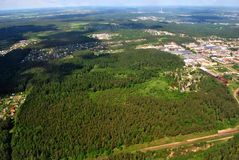 Леса & дома Стоковая Фотография