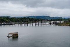 Лесистый мост в Sangkhlaburi Стоковое Фото
