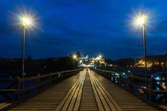 Лесистый мост в Sangkhlaburi Стоковые Изображения RF