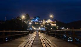 Лесистый мост в Sangkhlaburi Стоковое Изображение