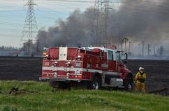 Лесной пожар Калифорнии стоковые фотографии rf