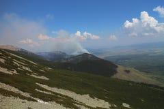 Лесной пожар леса в Kezmarske Zlaby, высоком Tatras стоковые изображения rf