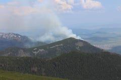 Лесной пожар леса в Kezmarske Zlaby, высоком Tatras стоковые фотографии rf