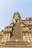 Лестница башни, Angkor Wat, Siem Reap, Камбоджа Стоковое Фото