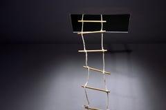 Лестница веревочки стоковое фото