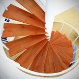 лестница винта случая деревянная Стоковые Изображения RF