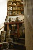 Лестница вполне коробок фильма стоковое фото rf
