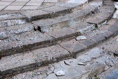 Лестница в потребности ремонта Стоковое Фото