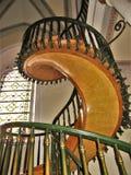Лестница в Санта-Фе, Неш-Мексико часовни Loretto нерукотворная Стоковое Фото