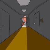 Лестница в темном Hall Стоковые Фото