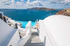 Лестница в Santorini стоковые фотографии rf