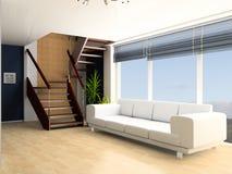 лестница гостиной Стоковые Изображения RF