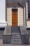лестница гранита входа двери Стоковое Изображение