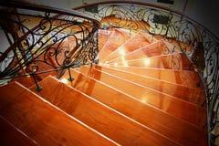 лестница деревянная Стоковое Фото