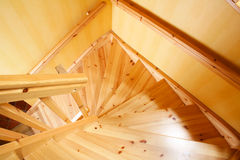 лестница деревянная Стоковое Изображение