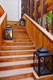 лестница деревянная Стоковая Фотография RF