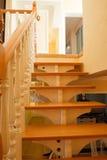 лестница деревянная Стоковая Фотография