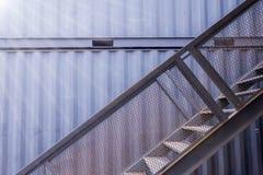 Лестница дома контейнера Стоковые Изображения RF
