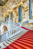 Лестница Зимнего дворца, музей Джордана обители, любимчик St Стоковая Фотография