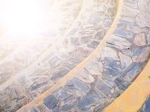 Лестница изогнутая утесом Стоковое Изображение