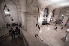 Лестница интерьера публичной библиотеки Нью-Йорка Стоковые Фото