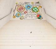 Лестница и диаграмма дела Стоковые Изображения