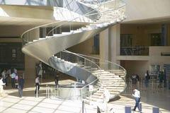 Лестница и лобби на Лувре, Париж, Франция Стоковое Изображение