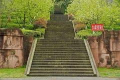 Лестница камня Yaan Китая- вверх по холму Стоковое Изображение