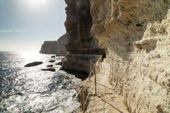 Лестница короля Арагона шагает, остров Корсики, Франция стоковое фото rf