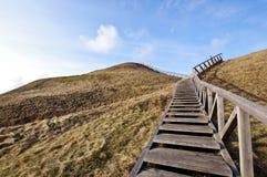 Лестница к идее рая стоковое изображение
