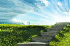 Лестница к небу Стоковое Фото